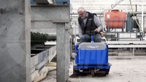 Industrial floor sweeper