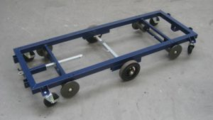 Steel transport trolley